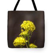 Yellow Button Tote Bag