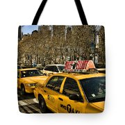 Yellow Cabs Tote Bag by Joanna Madloch