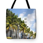 Yellow Cabs On Ocean Drive Tote Bag