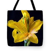 Yellow Canna Flower Tote Bag