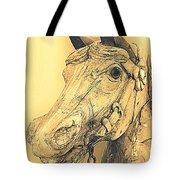 Yellow Carousel Horse Tote Bag