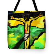 Yellow Christ  After Gauguin Tote Bag