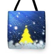 Yellow Christmas Tree Tote Bag
