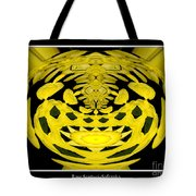 Yellow Chrysanthemums Polar Coordinates Effect Tote Bag