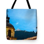 Yellow Church And Monserrate Tote Bag
