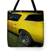 Yellow Classic Car Diablo At The Show Tote Bag
