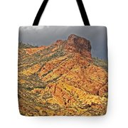 Yellow Colored Rock Along The Apache Trail Tote Bag