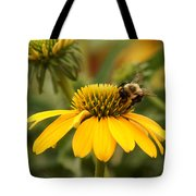 Yellow Coneflower And Bee Tote Bag