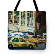 Yellow Congestion Tote Bag