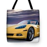 Yellow Corvette Convertible Tote Bag