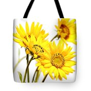 Yellow Country Wildflowers Tote Bag