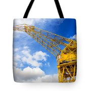 Yellow Crane And Sky Tote Bag