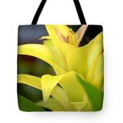 Yellow Cream Tropical Tote Bag