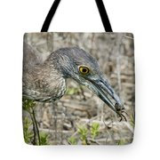 Yellow-crowned Night Heron With Crab Tote Bag