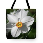 Yellow Daffodil Heart Tote Bag