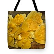 Yellow Daffodils And Texture Tote Bag