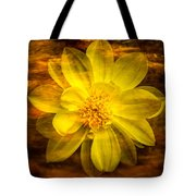 Yellow Dahlia Under Water Tote Bag