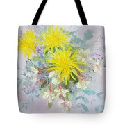 Yellow Dahlias And Peruvian Lilies Tote Bag