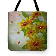 Yellow Daisy Flowers  Tote Bag