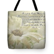 Yellow Daisy Photoart  With Verse Tote Bag