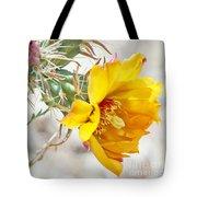 Yellow Desert Flower Tote Bag