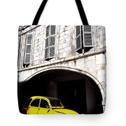 Yellow Deux Chevaux In Shadow Tote Bag