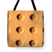 Yellow Dots Metal Tote Bag