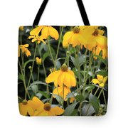 Yellow Echinacea Tote Bag