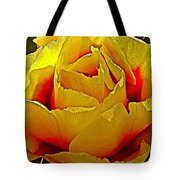 Yellow Engelmann Prickly Pear On Chihuahuan Desert Trail In Big Bend National Park-texas   Tote Bag