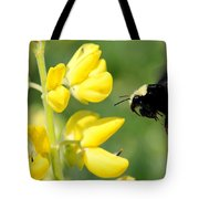 Yellow Faced Tote Bag