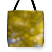 Yellow Fall Foliage Blurred Background Tote Bag