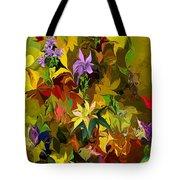 Yellow Fantasy Flower Garden Tote Bag