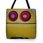 Yellow Ferrari Tail Lights Tote Bag