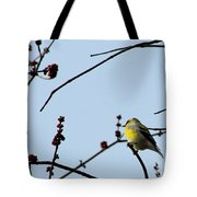 Yellow Finch In Spring Tote Bag