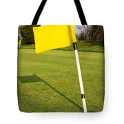 Yellow Flag On The Green Tote Bag
