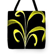 Yellow Flaring Plant Tote Bag
