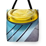 Yellow Float Palm Springs Tote Bag