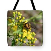Yellow Flower Bee Tote Bag