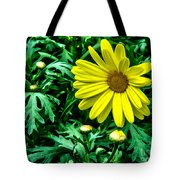Yellow Flower Of Spring Tote Bag