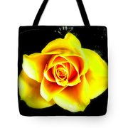 Yellow Flower On A Dark Background Tote Bag