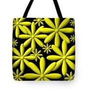 Yellow Flower Power 3d Digital Art Tote Bag
