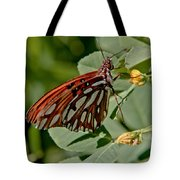 Yellow Flower With Gulf Fritillary Butterfly Tote Bag