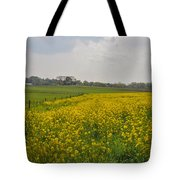 Yellow Flowers In A Field Tote Bag