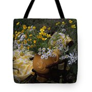 Yellow And White Flowers Tote Bag