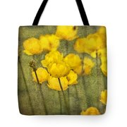 Yellow Flowers With Texture Tote Bag