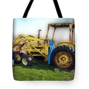 Yellow Ford Tractor Tote Bag