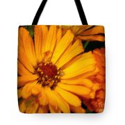 Yellow Gold Flowers Tote Bag