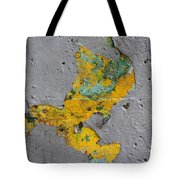 Yellow Graffiti Tote Bag