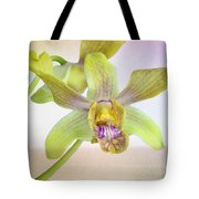Yellow-green Orchid Tote Bag