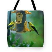Yellow Grosbeak Duo Tote Bag
